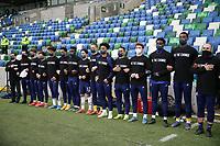 BELFAST, NORTHERN IRELAND - MARCH 28: USMNT bench before a game between Northern Ireland and USMNT at Windsor Park on March 28, 2021 in Belfast, Northern Ireland.