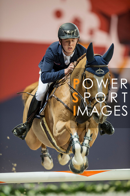 Bertram Allen of Ireland riding Quiet Easy during the Hong Kong Jockey Club Trophy competition, part of the Longines Masters of Hong Kong on 10 February 2017 at the Asia World Expo in Hong Kong, China. Photo by Marcio Rodrigo Machado / Power Sport Images
