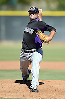 Colorado Rockies pitcher Jacob Newberry (88) during an instructional league game against the Los Angels Angels of Anaheim on September 30, 2013 at Tempe Diablo Stadium Complex in Tempe, Arizona.  (Mike Janes/Four Seam Images)