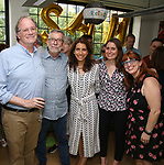 Douglas Abel, Sam Rudy,  Sarah Stern, Suzanne Appel and Melissa L. Pelkey during the Retirement Celebration for Sam Rudy at Rosie's Theater Kids on July 17, 2019 in New York City.