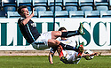 Caley's Josh Meekings goes in from behind on Dundee's Paul McGowan.