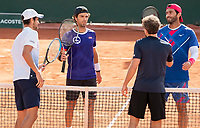 Paris, France, 04 ,10,  2020, Tennis, French Open, Roland Garros, Men's doubles Jean Julien Rojer (NED) and Horia Tecau (ROU)<br /> Photo: Susan Mullane/tennisimages.com