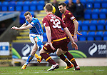 St Johnstone v Motherwell…20.02.16   SPFL   McDiarmid Park, Perth<br />Steven MacLean shoots over the bar<br />Picture by Graeme Hart.<br />Copyright Perthshire Picture Agency<br />Tel: 01738 623350  Mobile: 07990 594431