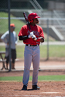 Los Angeles Angels infielder Jose Verrier (74) at bat during an Extended Spring Training game against the Giants Black at the San Francisco Giants Training Complex on May 25, 2018 in Scottsdale, Arizona. (Zachary Lucy/Four Seam Images)