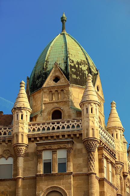 Gothic revival building on Freedom Square ( Szabadság tér ). Budapest, Hungary