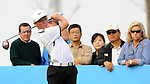 TAIPEI, TAIWAN - NOVEMBER 20:  Lorens Chan of USA tees off on the 10th hole during day three of the Fubon Senior Open at Miramar Golf & Country Club on November 20, 2011 in Taipei, Taiwan. Photo by Victor Fraile / The Power of Sport Images