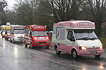 Ice cream vans line up for send off at funeral for Ice Cream vendor