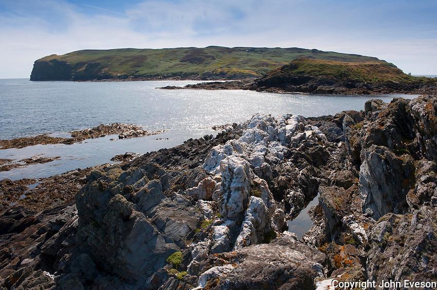 View looking towards calf of Man, Isle of Man.