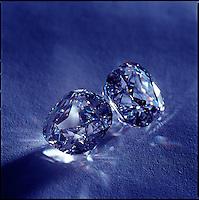Diamonds refracting light<br />