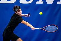Amstelveen, Netherlands, 14  December, 2020, National Tennis Center, NTC, NK Indoor, National  Indoor Tennis Championships, Qualifying: Jesse de Jager (NED)  <br /> Photo: Henk Koster/tennisimages.com