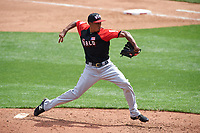 World Team pitcher Edwin Diaz (45) in action during the MLB All-Star Futures Game on July 12, 2015 at Great American Ball Park in Cincinnati, Ohio.  (Mike Janes/Four Seam Images)
