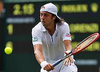 England, London, 24.06.2014. Tennis, Wimbledon, AELTC, Paolo Lorenzi (ITA)<br /> Photo: Tennisimages/Henk Koster
