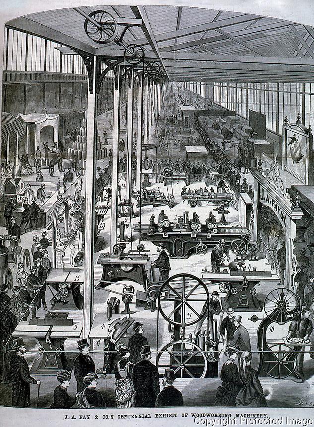 Utopia:  Machinery Hall--Centennial Exposition.  SCIENCE AMERICA, Nov. 25, 1876.  Photo '74.
