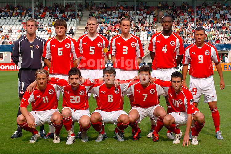 zwitserland - brazilie, emmen, 15-06-2005, nexxt2005 teamfoto zwitserland
