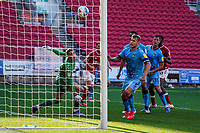 12th September 2020; Ashton Gate Stadium, Bristol, England; English Football League Championship Football, Bristol City versus Coventry City; Tomas Kalas of Bristol City scores in the 83rd minute to take the lead 2-1