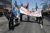 Justin Trudeau et Denis Coderre au Defile de la Fête national grecque, 23 mars 2014<br /> <br /> <br /> PHOTO : Agence Quebec Presse<br /> <br /> <br /> PHOTO : Agence Quebec Presse