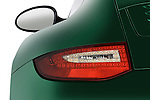 Tail light close up detail view of a 2009 Porsche Carrera Coupe S
