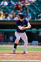 Montgomery Biscuits second baseman Brandon Lowe (6) at bat during a game against the Biloxi Shuckers on May 8, 2018 at Montgomery Riverwalk Stadium in Montgomery, Alabama.  Montgomery defeated Biloxi 10-5.  (Mike Janes/Four Seam Images)