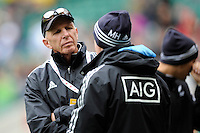New Zealand Head Coach Gordon Tietjens during Day Two of the iRB Marriott London Sevens at Twickenham on Sunday 11th May 2014 (Photo by Rob Munro)