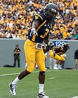September 4, 2010: WVU wide receiver Eddie Davis. The West Virginia Mountaineers defeated the Coastal Carolina Chanticleers 31-0 on September 4, 2010 at Mountaineer Field, Morgantown, West Virginia.