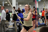 WINSTON-SALEM, NC - FEBRUARY 07: Elaina Roeder of Wake Forest University competes in the Women's Pole Vault at JDL Fast Track on February 07, 2020 in Winston-Salem, North Carolina.