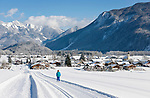 Deutschland, Oberbayern, Chiemgau, Schleching im Winter | Germany, Upper Bavaria, Chiemgau, Schleching at wintertime