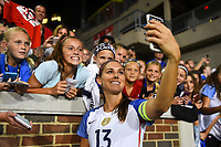 Cincinnati, OH - Tuesday September 19, 2017: Alex Morgan during an International friendly match between the women's National teams of the United States (USA) and New Zealand (NZL) at Nippert Stadium.