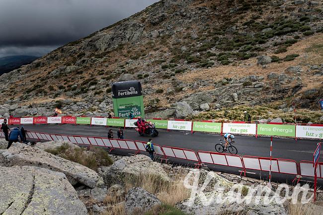 Pierre Latour (FRA/AG2R-LaMondiale) arriving at the finish<br /> <br /> Stage 20: Arenas de San Pedro to Plataforma de Gredos (190km)<br /> La Vuelta 2019<br /> <br /> ©kramon