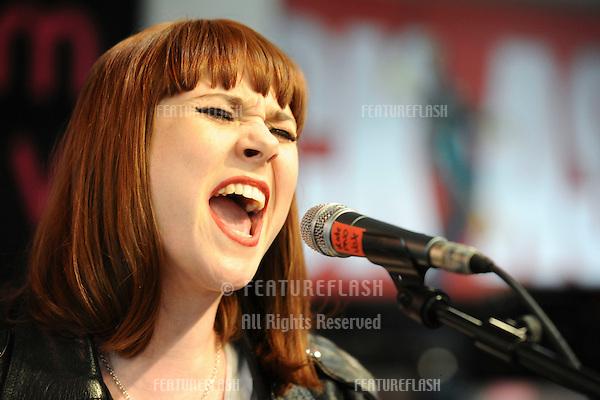 Singer, Kate Nash performs live at HMV Oxford Street, London. 19/04/2010  Picture by: Steve Vas / Featureflash