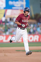 July 4, 2009: Yakima Bears infielder Brent Greer rounds the bases after connecting for his first professional home run during a Northwest League game against the Everett AquaSox at Everett Memorial Stadium in Everett, Washington.