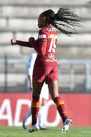 Lindsey Thomas of AS Roma celebrates after scoring the goal of  4-1 during the Women Italy cup round of 8 second leg match between AS Roma and Florentia S.G. at stadio delle tre fontane, Roma, February 14, 2021. Photo Andrea Staccioli / Insidefoto