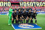 Players of Real Madrid line up and pose for a photo prior to their 2016-17 UEFA Champions League Semifinals 2nd leg match between Atletico de Madrid and Real Madrid at the Estadio Vicente Calderon on 10 May 2017 in Madrid, Spain. Photo by Diego Gonzalez Souto / Power Sport Images