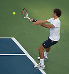 Roger Federer (SUI) wins at the Western and Southern Financial Group Masters Series in Cincinnati on August 15, 2012