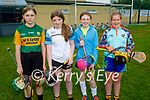 Attending the Abbeydorney GAA Cúl Camps on Monday, l to r: Eva Lyons, Rebecca O'Dowd, Ellie Clifford and Aloíse Walsh.