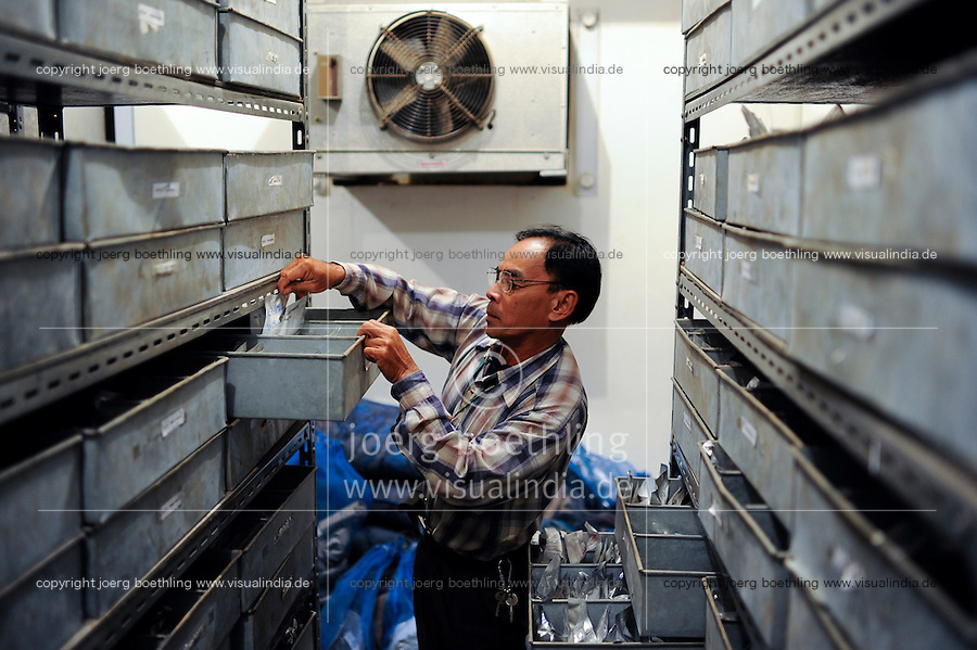 LAOS Vientiane NAFRI Forschungsinstitut fuer Land- u. Forstwirtschaft, Anbau von verschiedenen Reissorten und Kreuzung von neuen Sorten mit hoeheren Ertraegen, Reis Genbank  | .Laos Vientiane agriculture and rice research institut NAFRI
