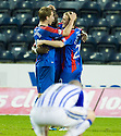 CALEY'S GREGORY TADE CELEBRATES AFTER HE  SCORES INVERNESS' SIXTH GOAL
