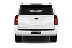 Straight rear view of 2018 Chevrolet Suburban LS 5 Door SUV Rear View  stock images