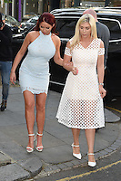 Amy Childs and Frankie Essex<br /> arrives for the Amy Childs Summer Collection show at Beach Blanket Babylon, Notting Hill, London.<br /> <br /> <br /> ©Ash Knotek  D3129  06/06/2016