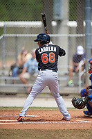 Miami Marlins third baseman Rony Cabrera (68) at bat during a minor league Spring Training game against the New York Mets on March 26, 2017 at the Roger Dean Stadium Complex in Jupiter, Florida.  (Mike Janes/Four Seam Images)