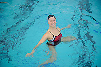 Jessica Guenther of the 2010 Stanford Synchronized Swimming team.