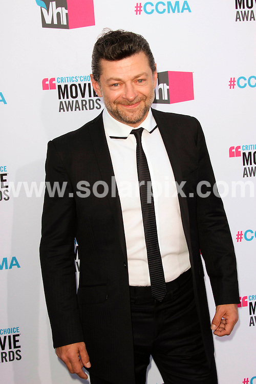 **ALL ROUND PICTURES FROM SOLARPIX.COM**                                             **SYNDICATION RIGHTS FOR UK, AUSTRALIA, DENMARK, PORTUGAL, S. AFRICA, SPAIN & DUBAI (U.A.E) & ASIA (EXCLUDING JAPAN) ONLY**                                                                                   17th Annual Critics Choice Movie Awards - Arrivals - Hollywood Palladium - Hollywood, CA, USA                                                                             This pic:   Andy Serkis                                                                                    JOB REF:  14357    PHZ Evans      DATE: 13.01.12                                                           **MUST CREDIT SOLARPIX.COM OR DOUBLE FEE WILL BE CHARGED**                                                                      **MUST AGREE FEE BEFORE ONLINE USAGE**                               **CALL US ON: +34 952 811 768 or LOW RATE FROM UK 0844 617 7637**