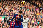 FC Barcelona's Gerard Pique during spanish La Liga match between Futbol Club Barcelona and Real Madrid  at Camp Nou Stadium in Barcelona , Spain. Decembe r03, 2016. (ALTERPHOTOS/Rodrigo Jimenez)