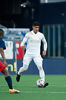 FOXBOROUGH, MA - MAY 1: Alan Franco #6 of Atlanta United FC during a game between Atlanta United FC and New England Revolution at Gillette Stadium on May 1, 2021 in Foxborough, Massachusetts.