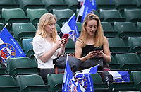 25th September 2021; The Recreation Ground, Bath, Somerset, England; Gallagher Premiership Rugby, Bath versus Newcastle Falcons; Bath fans anticipate the match