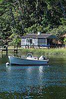 Rustic waterfront cottage, Cape Cod, Massachusetts, USA