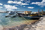 Unloading the Twin Otter, east arm Great Slave Lake