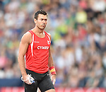 Wales' Paul Walker competes in the men's pole vault final<br /> <br /> Photographer Chris Vaughan/Sportingwales<br /> <br /> 20th Commonwealth Games - Day 9 - Friday 1st August 2014 - Athletics - Hampden Park - Glasgow - UK