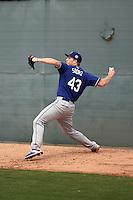 Josh Sborz - Los Angeles Dodgers 2016 spring training (Bill Mitchell)