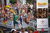 Luke McKenzie finishes 2nd at the 2013 Ironman World Championship in Kailua-Kona, Hawaii on October 12, 2013.