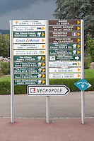road signs to wineries sigolsheim alsace france